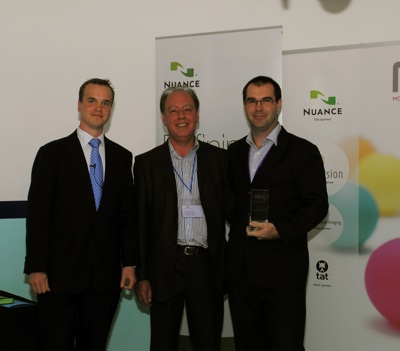 From left to right, Marek Pawlowski, founder of MEX, Terence Warmbier, Director of Business Development, Immersion Corporation and Rhys Cooper of Orange Dot Pty Ltd.