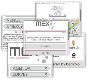 MEX Mobile site at mex.bemoko.com
