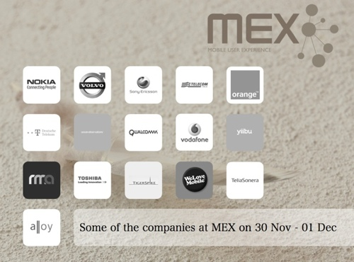 A selection of the companies participating at MEX
