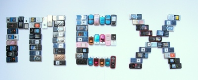 What would the MEX logo look like if it was made from 100 phones?