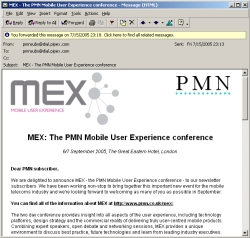 The MEX newsletter
