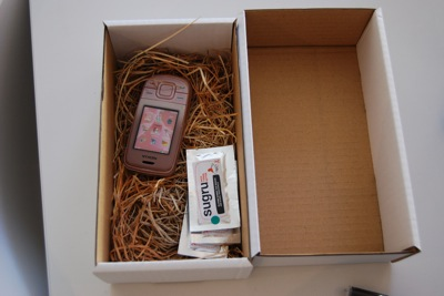 Phone model and Sugru in the MEX box