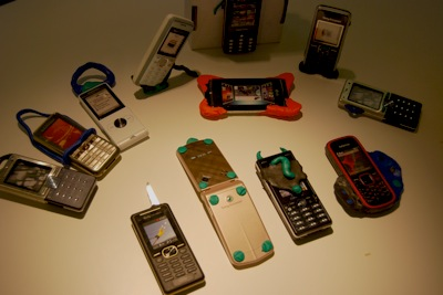 MEX phone models on display